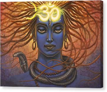 Shiva Om Canvas Print by Vrindavan Das