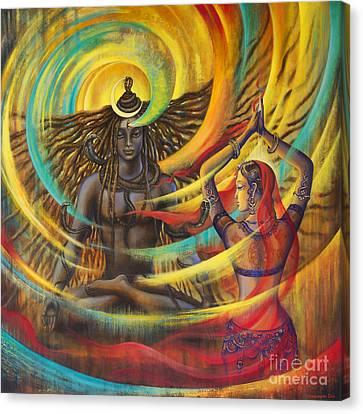 Shiva Shakti Canvas Print by Vrindavan Das