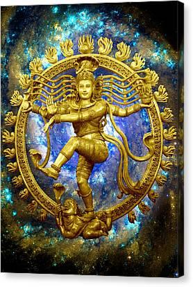 Shiva The Cosmic Dancer Canvas Print by Svahha Devi