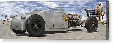 Shock Therapy At Gallap Canvas Print by Mike McGlothlen