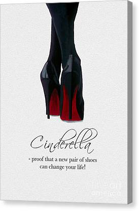 Shoes Can Change Your Life Canvas Print by Rebecca Jenkins