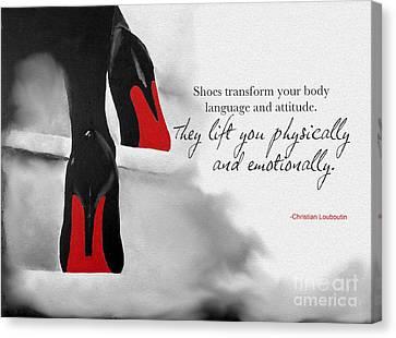 Shoes Transform You Canvas Print by Rebecca Jenkins