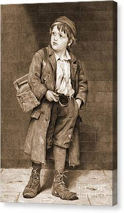 Shoeshine Boy 1890 Canvas Print by Padre Art