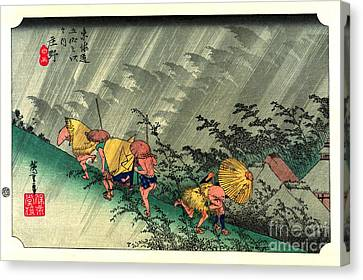 Shono Station Tokaido Road 1833 Canvas Print by Padre Art