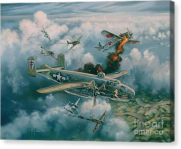 Shoot-out Over Saigon Canvas Print by Randy Green