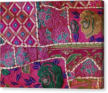 Shopping Colorful Tapestry Sale India Rajasthan Jaipur Canvas Print by Sue Jacobi