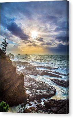 Shore Acres Storm Canvas Print by Robert Bynum