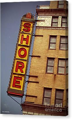 Shore Building Sign - Coney Island Canvas Print by Jim Zahniser