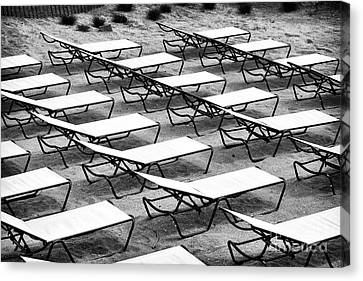 Shore Lounges Canvas Print by John Rizzuto
