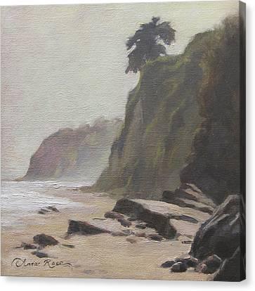 Shoreline Atmosphere Santa Barbara Canvas Print by Anna Rose Bain