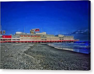 Shoreline Of Atlantic City Canvas Print by Mountain Dreams