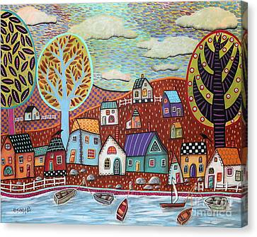 Shoreline1 Canvas Print by Karla Gerard