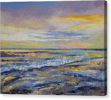 Shores Of Heaven Canvas Print by Michael Creese