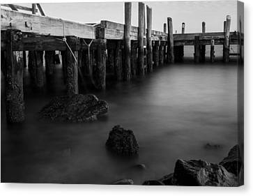Shores Of Jamestown Canvas Print by Andrew Pacheco