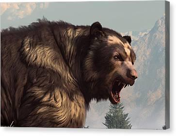 Short Faced Bear Canvas Print by Daniel Eskridge