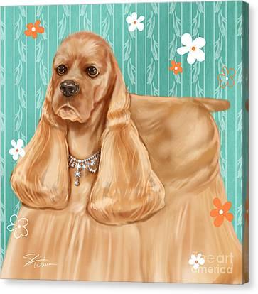 Show Dog Cocker Spaniel Canvas Print by Shari Warren