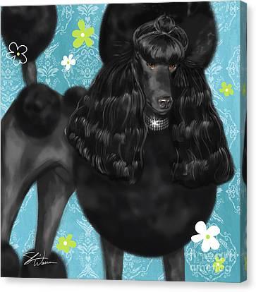 Show Dog Poodle Canvas Print by Shari Warren