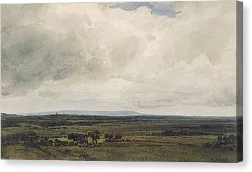 Showery Day, Glastonbury Tor Canvas Print by Frederick Nash