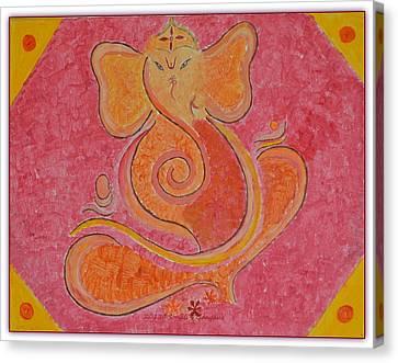 Shree Ganesh Canvas Print by Sonali Gangane