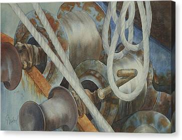 Shrimp Boat - Out Of Service Canvas Print by Johanna Axelrod