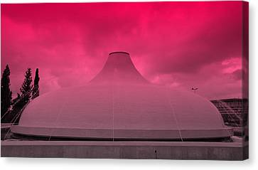 Shrine Of The Book Canvas Print by Stephen Stookey