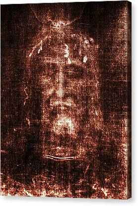 Shroud Of Turin Canvas Print by Christian Art