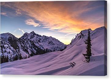 Shuksan Morning Skies Canvas Print by Mike Reid