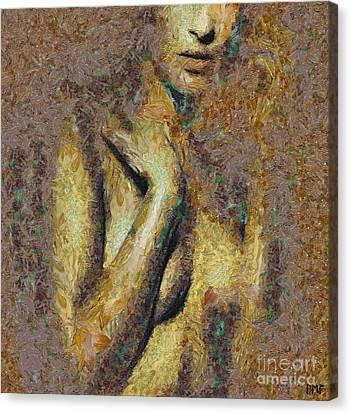 Shyness Canvas Print by Dragica  Micki Fortuna