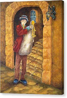 Sicilian Ciaramella Canvas Print by Pamela Allegretto
