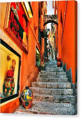 Sicilian Steps Canvas Print by Mel Steinhauer