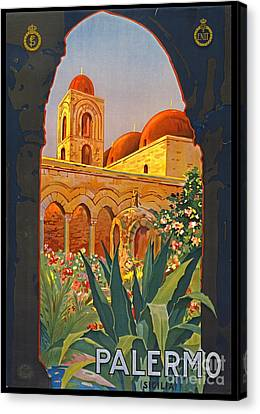 Sicilian Travel Poster 1920 Canvas Print by Padre Art
