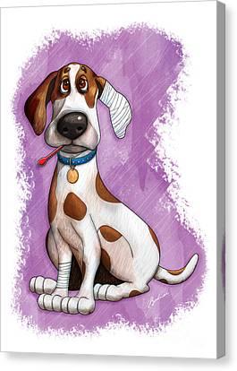 Sick Puppy Canvas Print by Gary Bodnar