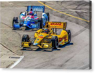Side By Side Canvas Print by Andy Glavac