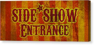 Sideshow Entrance Sign Canvas Print by Jera Sky