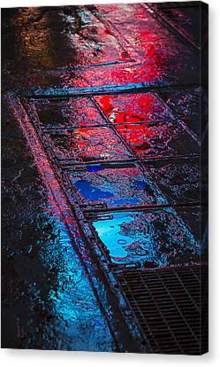 Sidewalk Reflections Canvas Print by Garry Gay