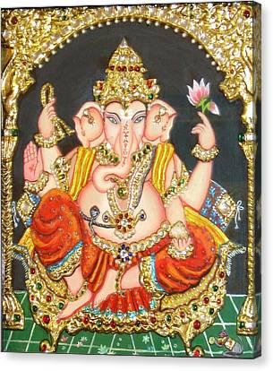 Sidha Ganapathi Canvas Print by Jayashree