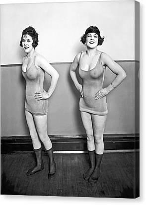 Sidney Lust Chorus Girls Canvas Print by National Photo Company