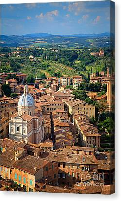 Siena From Above Canvas Print by Inge Johnsson