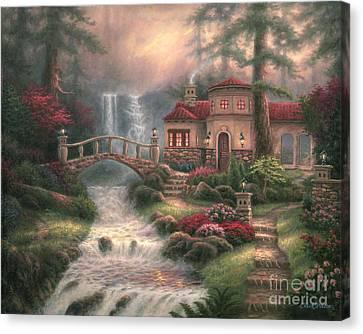 Sierra River Falls Canvas Print by Chuck Pinson