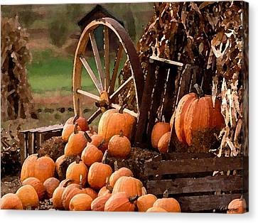 Signs Of Fall Canvas Print by Cole Black