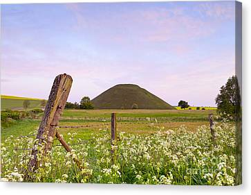 Silbury Hill Wiltshire Early Morning  Canvas Print by Colin and Linda McKie