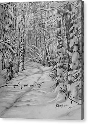 silence in Russian Canvas Print by Khromykh Natalia