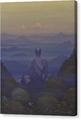 Silence Canvas Print by Vrindavan Das