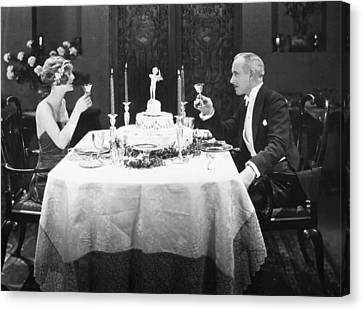Silent Film: Toasting Canvas Print by Granger
