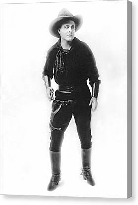 Silent Movie Cowboy Canvas Print by Underwood Archives