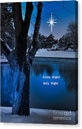 Silent Night Canvas Print by Betty LaRue