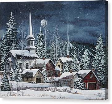 Silent Night Canvas Print by Debbi Wetzel