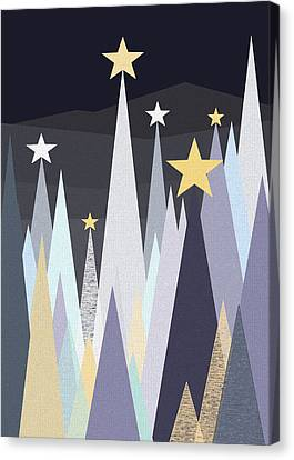 Silent Winters Night Canvas Print by Val Arie