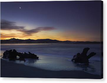 Siletz Bay Sunrise Canvas Print by Colby Drake