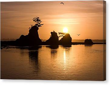 Siletz Sunset Canvas Print by Kristina Rinell